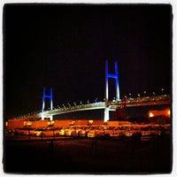 Photo taken at Yokohama Bay Bridge by daisuke H. on 10/1/2012