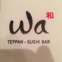 Photo taken at Wa Teppan Sushi Bar by Carlos S. on 6/8/2013