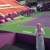 Photo taken at Qatar Tennis Federation by Ahmad👻 on 2/6/2014