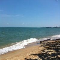 Photo taken at Pantai Tanjung Bidara by Azizuddin F. on 6/8/2014