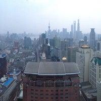 Photo taken at Le Royal Méridien Shanghai | 上海世茂皇家艾美酒店 by Peter K. on 4/9/2013