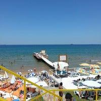 Photo taken at Solar Beach by Fulya D. on 6/23/2013