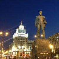 Photo taken at Triumfalnaya Square by Stan K. on 7/12/2013