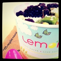 Photo taken at Lemon Tree Frozen Yogurt by Kim W. on 4/24/2011