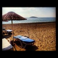 Photo taken at Bedya Beach by Gamze Ş. on 10/27/2012