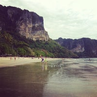 Photo taken at Ao Nang Beach by Ася Х. on 1/14/2014