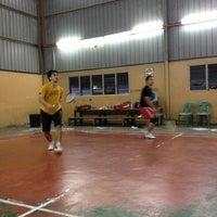 Photo taken at Dewan Badminton Biru(Majlis Daerah-lama) by Hanim A. on 12/25/2012