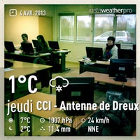 Photo taken at CCI - Antenne de Dreux by Beer B. on 4/4/2013