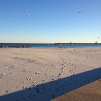 Photo taken at Buckroe Beach by Mandi G. on 12/22/2012