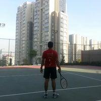Photo taken at Innovia Tennis Court by İbrahim Erden E. on 10/29/2013