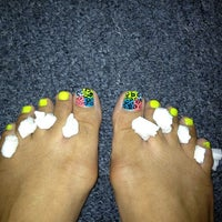 """Photo taken at Tip """"O"""" Nails by Kitty D. on 7/12/2013"""