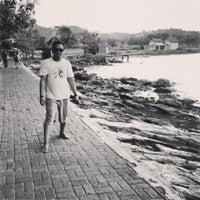 Photo taken at pantai benteng portugis by Thezo E. on 1/18/2013