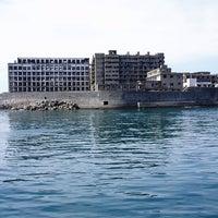 Photo taken at Hashima (Gunkanjima) Island by Taben N. on 10/27/2012