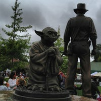 Photo taken at Yoda Statue by David F. on 6/23/2013