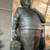 Photo taken at Ralph Kramden Statue by Abby S. on 2/11/2013