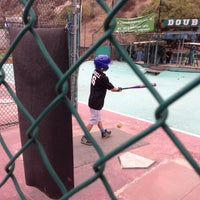 Photo taken at Laguna Beach Batting Cages by Robert A. on 8/7/2013