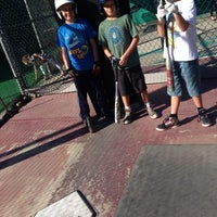 Photo taken at Laguna Beach Batting Cages by Robert A. on 1/11/2014