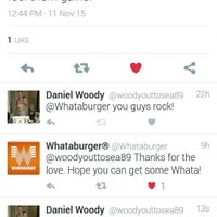 Photo taken at Whataburger by Daniel W. on 11/13/2015