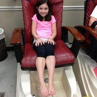 Photo taken at Regal Nails Salon & Spa (Inside WalMart) by PJ R. on 6/1/2013