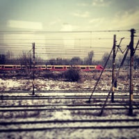 Photo taken at Warsaw West Railway Station by Andrzej T. on 3/21/2013