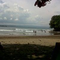 Photo taken at Pantai Batu Karas by Rans H. on 3/24/2013