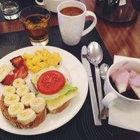 Photo taken at Hilton Gdansk Breakfast by Riina R. on 4/25/2014