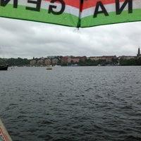 Photo taken at Riddarfjärden by Klas M. on 8/17/2013