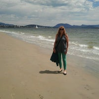 Photo taken at Long Beach by Carolyn M. on 12/28/2013