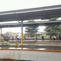 Photo taken at Stasiun Depok Baru by Rizky S. on 1/15/2013