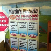 Photo taken at Martin's Pizza by Fernando D. on 1/25/2013