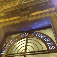 Photo taken at Hôtel du Congrès by Ernesto P. on 3/24/2013