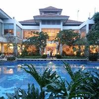 Photo taken at Sheraton Bandara Hotel by Charista T. on 7/4/2013