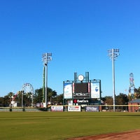 Photo taken at Bragan Field at the Baseball Grounds of Jacksonville by Angel-Marie A. on 11/10/2012