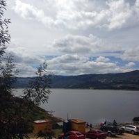 Photo taken at Embalse de Guatavita by Fernanda O. on 2/15/2015