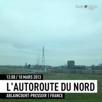 Photo taken at Autoroute A1 | L'Autoroute du Nord by Tto S. on 3/10/2013