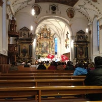 Photo taken at Pfarrkirche Menzingen by Aleksz on 10/27/2012