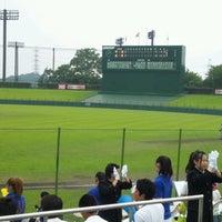 Photo taken at いせはらサンシャインスタジアム by Aya K. on 7/14/2013