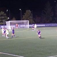 Photo taken at Northwestern Lakeside Field by Diane S. on 10/25/2014