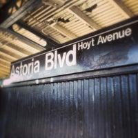 Photo taken at MTA Subway - Astoria Blvd/Hoyt Ave (N/W) by David N. on 4/28/2013