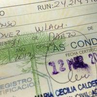 Photo taken at Servicio de Registro Civil e Identificación by Rodrigo P. on 3/12/2013