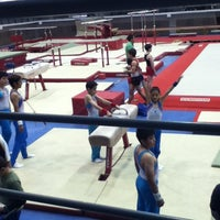 Photo taken at Complejo Nissan de Gimnasia by Caren A. on 3/2/2013