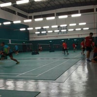 Photo taken at Penang Badminton Academy by Jeffrey Lai on 5/23/2015