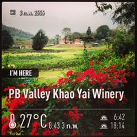Photo taken at PB Valley Khao Yai Winery by Prayut P. on 2/3/2013