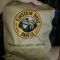 Photo taken at Einstein Bros Bagels by Matthew M. on 5/18/2014