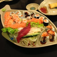 Photo taken at Oishii Sushi by Marcos R. on 4/20/2013