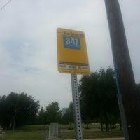 Photo taken at Dart Bus Stop - 347 to Addison Transit Center by Zac W. on 6/15/2013