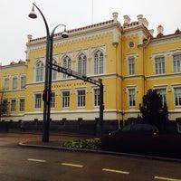 Photo taken at Jyväskylän Lyseon lukio by Alexandr V. on 1/5/2014