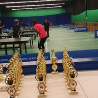 Photo taken at ClearOne Badminton Club by Juliana M. on 3/15/2014
