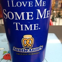 Photo taken at Auntie Anne's by Natasja G. on 1/4/2013