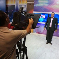 Photo taken at TV Arapuan by Charles G. on 3/7/2014